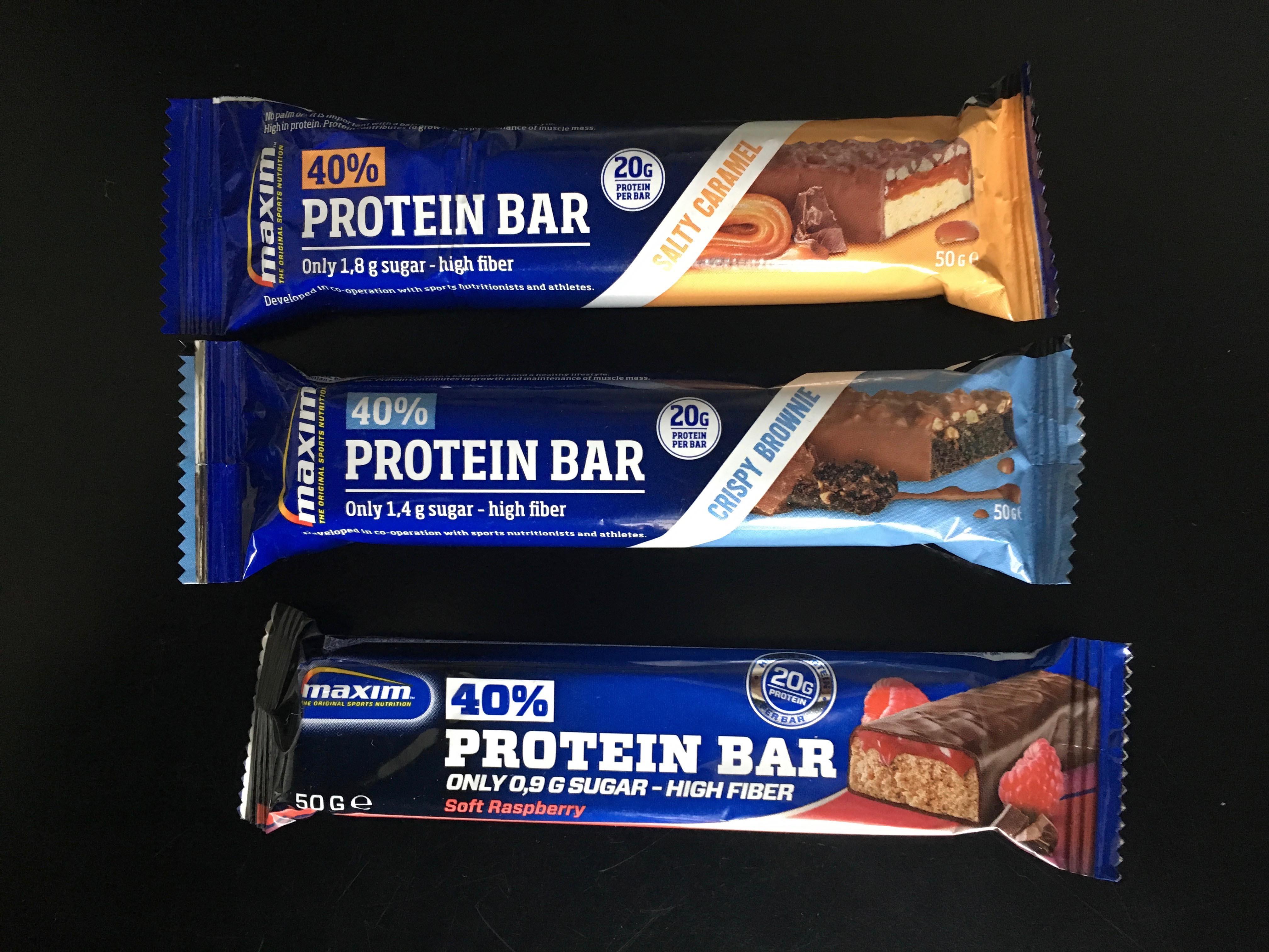 Anmeldelse af Maxim 40% Protein bar